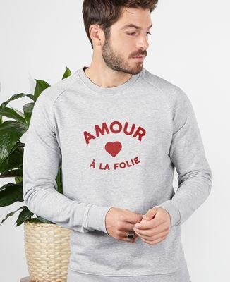 Sweatshirt homme Amour à la folie (effet velours)
