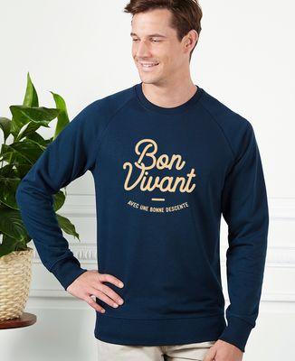 Sweatshirt homme Bon vivant (avec une bonne descente)