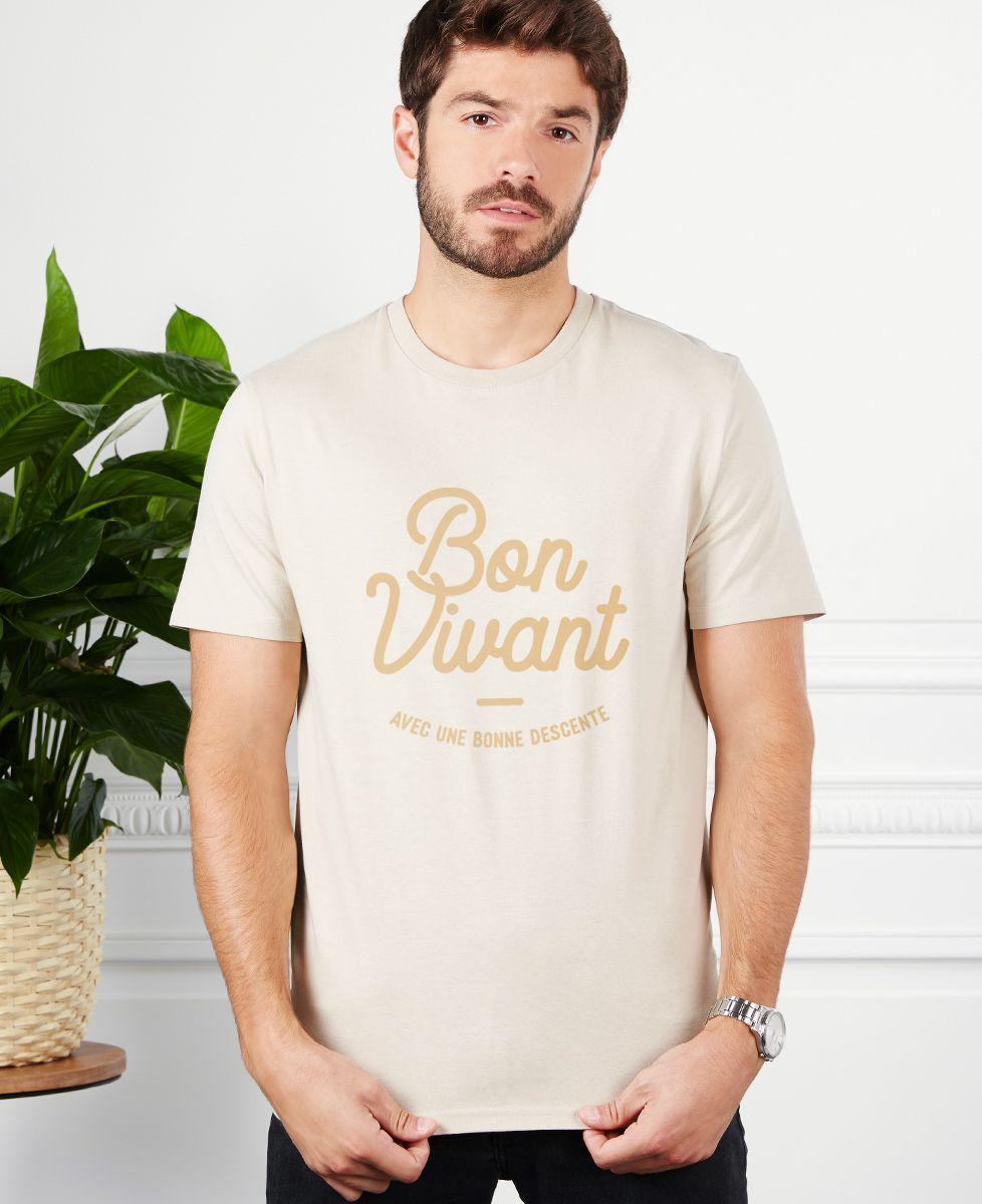 T-Shirt homme Bon vivant (avec une bonne descente)