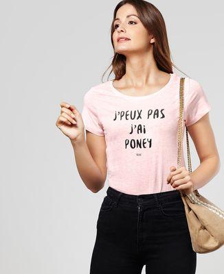 T-Shirt femme J'peux pas j'ai poney