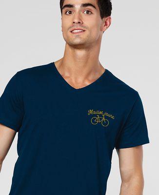 T-Shirt homme Maillot jaune brodé