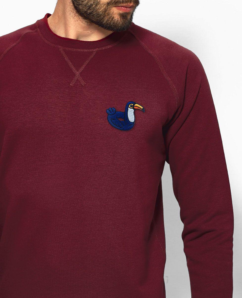 Sweatshirt homme Écusson Bouée Toucan