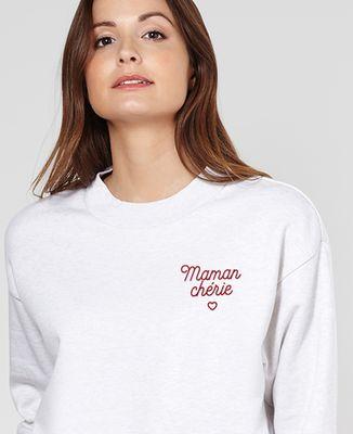 Sweatshirt femme Maman chérie brodé