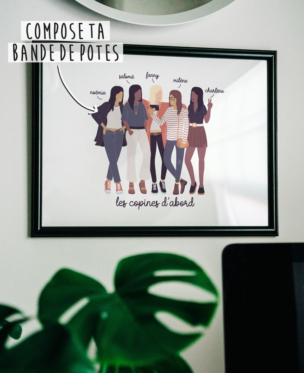 Affiche Bande de potes personnalisé