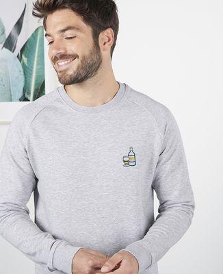 Sweatshirt homme P'tit jaune d'amour (brodé)