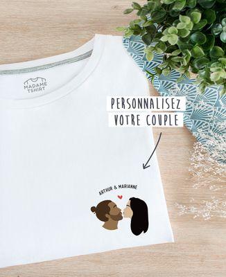 T-Shirt femme Baiser personnalisé